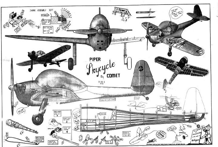 Piper P A 8 Sky Cycle - Ama